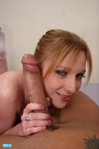 Cute Redhead With Monster White Cock