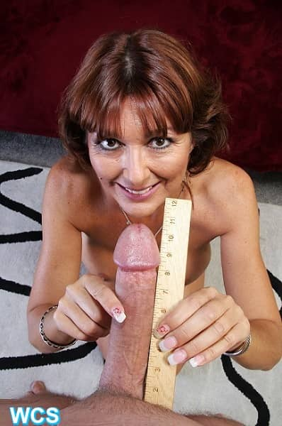 Monster Cock Measured By Hot Milf