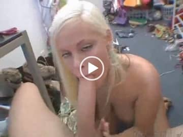 Monster Cock Sucked By Blonde Slut Pov