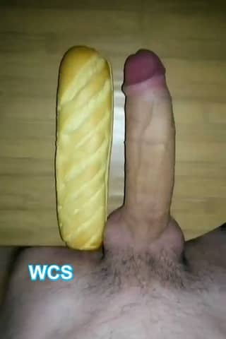 White Guy Comparing his Giant Cock Pic