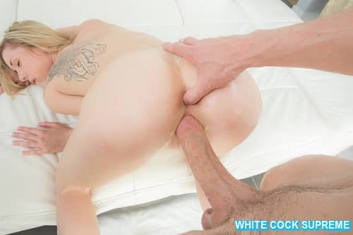 Big White Dick Destroys Another Blonde Teen